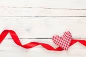 Cinta y día de San Valentín corazón de juguete — Foto de Stock
