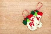 Christmas mitten decor — Zdjęcie stockowe