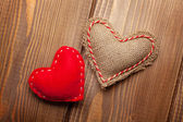 Valentines day toy hearts — Стоковое фото