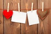 Фоторамки и Валентина игрушка сердца — Стоковое фото