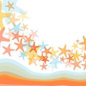 Colorful sea starfish illustration — Stock Vector