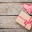 Valentines day toy heart and gift box — Stock Photo #61641219