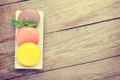 Colorful macaron cookies — Stock Photo