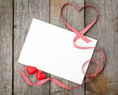 Valentine's day blank gift card — Stock Photo