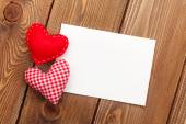 Greeting card and valentines day heart — Stock Photo