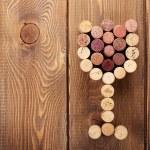 Glass shaped wine corks — Stock Photo #63313935