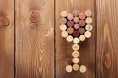 Glass shaped wine corks — Fotografia Stock