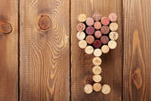 Glass shaped wine corks — Stock fotografie