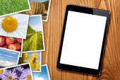 Tablet with blank screen — Stock Photo