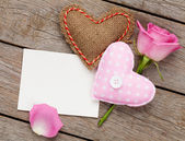 Valentines day blank greeting card — Stock fotografie