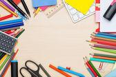 学校和办公用品 — 图库照片