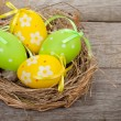 Easter eggs nest — Stock Photo #66385023