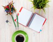 Office desk table, work place — Stock Photo