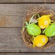 Easter eggs nest — Stock Photo #67057315