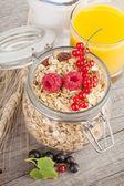 Breakfast with muesli and berries — Photo