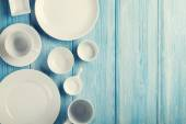 Empty plates and bowls — Foto Stock
