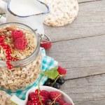 Healthy breakfast with muesli — Stock Photo #69587177