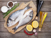 Dorado fish cooking — Stock Photo
