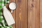 Milk cup and bottle — Foto de Stock