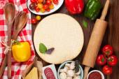 Pizza cucina ingredienti — Foto Stock