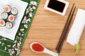 Sushi maki set — Stock Photo
