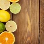 Citrus fruits. Oranges, limes and lemons — Stock Photo #72080609