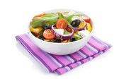 Fresh healty salad bowl — Stock Photo