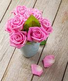 Spring pink roses bouquet — Φωτογραφία Αρχείου