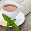 Green tea with lemon and mint — Stock Photo #72650471
