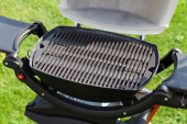 Barbecue grill at garden — Stock Photo