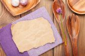 Wood kitchen utensils — Stock Photo