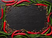 Chili pepper and peppercorn — Foto de Stock