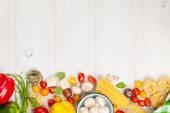 Italian food cooking ingredients — Stock Photo