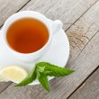 Green tea with lemon and mint — Stock Photo #74995351