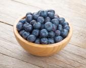 Fresh Blueberries in bowl — Stock Photo