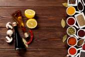 Various spices and condiments — Stock Photo