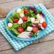 Постер, плакат: Fresh healthy salad with tomatoes and mozzarella