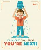 Ice Bucket Challenge. You're next! — Stock vektor