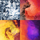 Triangle backgrounds set — Stock Vector