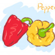 Two peppers — Stock Vector #62525919