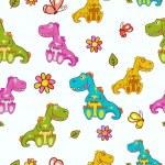 Dinosaurs pattern — Stock Vector #71681389