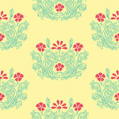 Floral retro pattern — Stock Vector