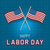 Cartão de bandeiras do dia do trabalho — Vetor de Stock