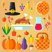 Set for thanksgiving day — Stock Vector