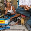 Shoe shiner in Kolkata, India — Stock Photo #55357143