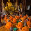 Young buddhist monks in Thailand — Stock Photo #55357291