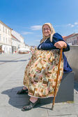 Old woman in Cluj Napoca — Stock Photo