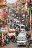 Traffic jam in Katmandu — Stockfoto