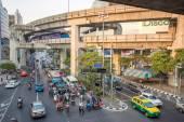 Dopravní zácpa v bangkoku — Stock fotografie