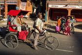 Rickshaw rider — Zdjęcie stockowe